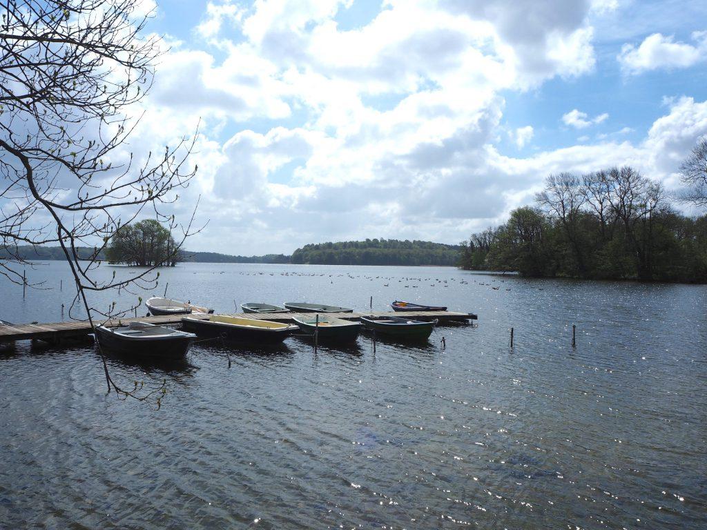 Ruderboote auf dem Kellersee