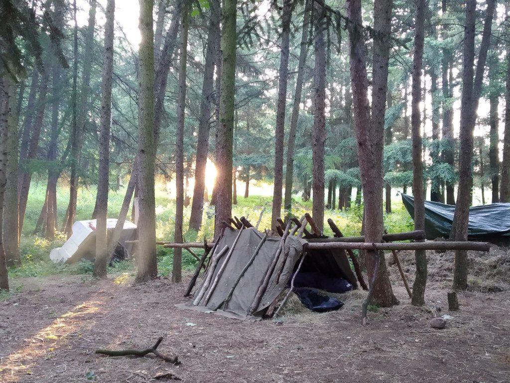 Unterschlupf - Survival im Wald