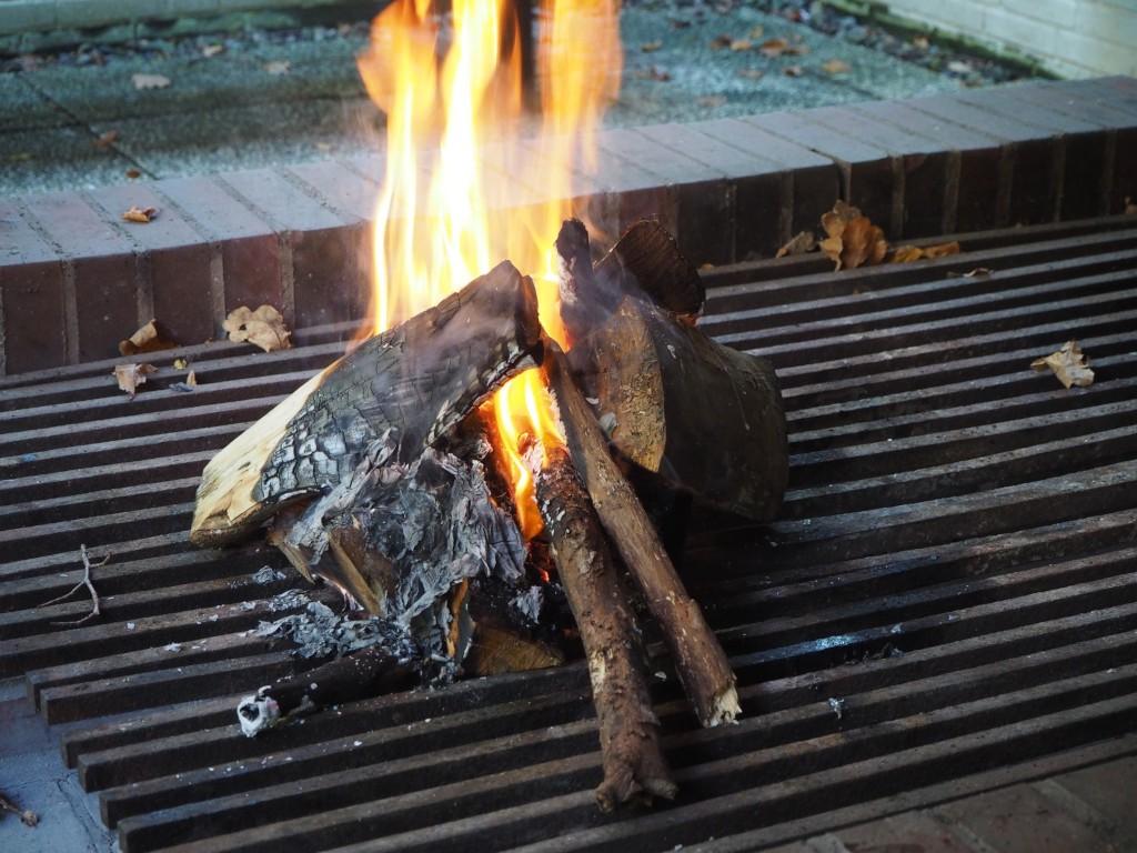 Warm und gemütlich: Kaminfeuer im Kurpark Malente