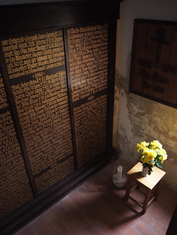Maria Magdalenen Kirche Malente Gedenktafel