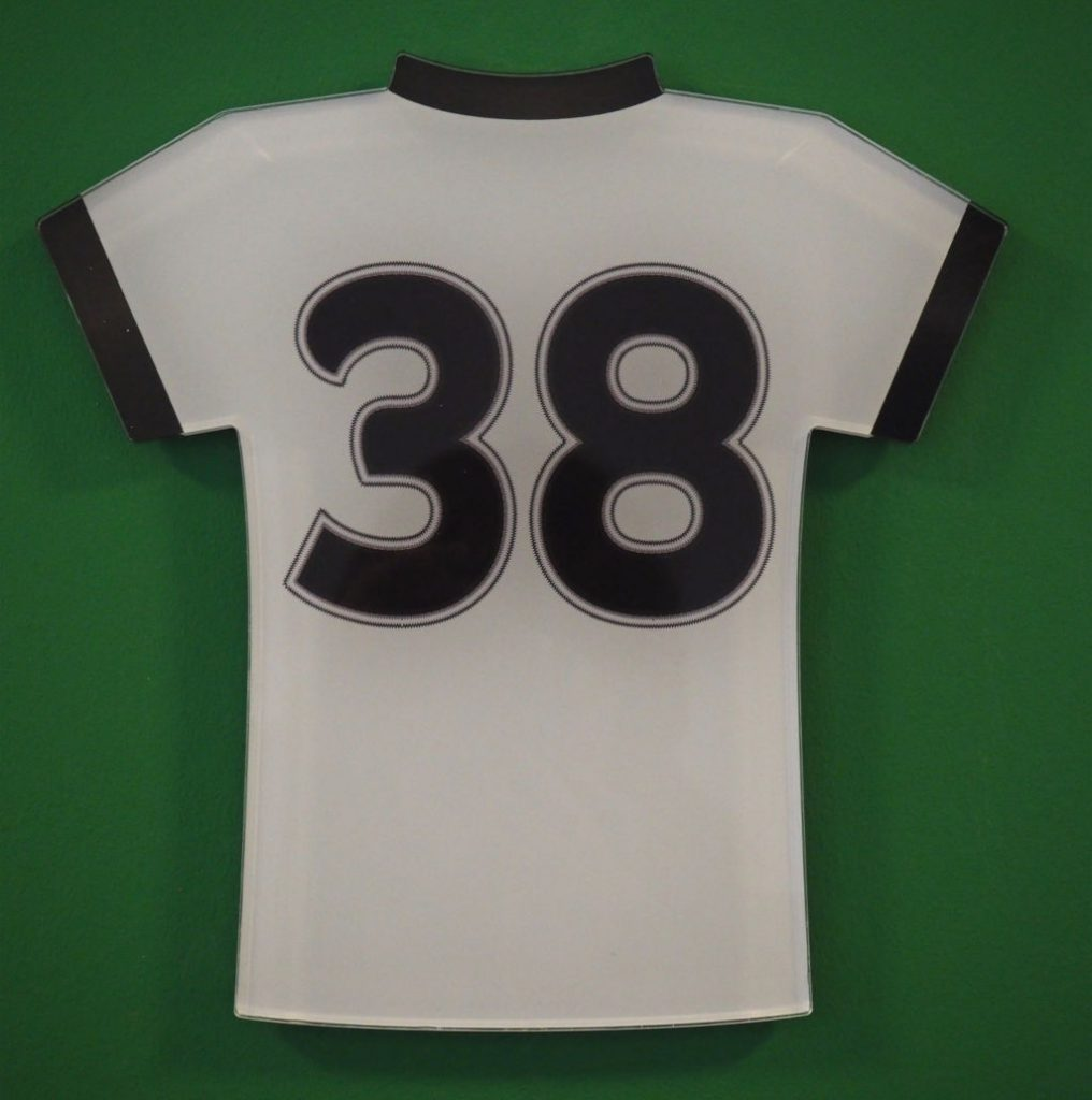 Trikot Nr 38 im Uwe Seeler Fußballpark