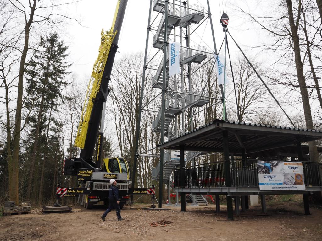 Holzbergturm Aufbau
