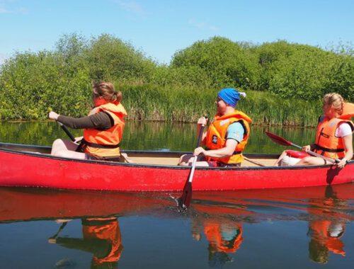 Kanutour auf der Schwentine zwischen den Seen
