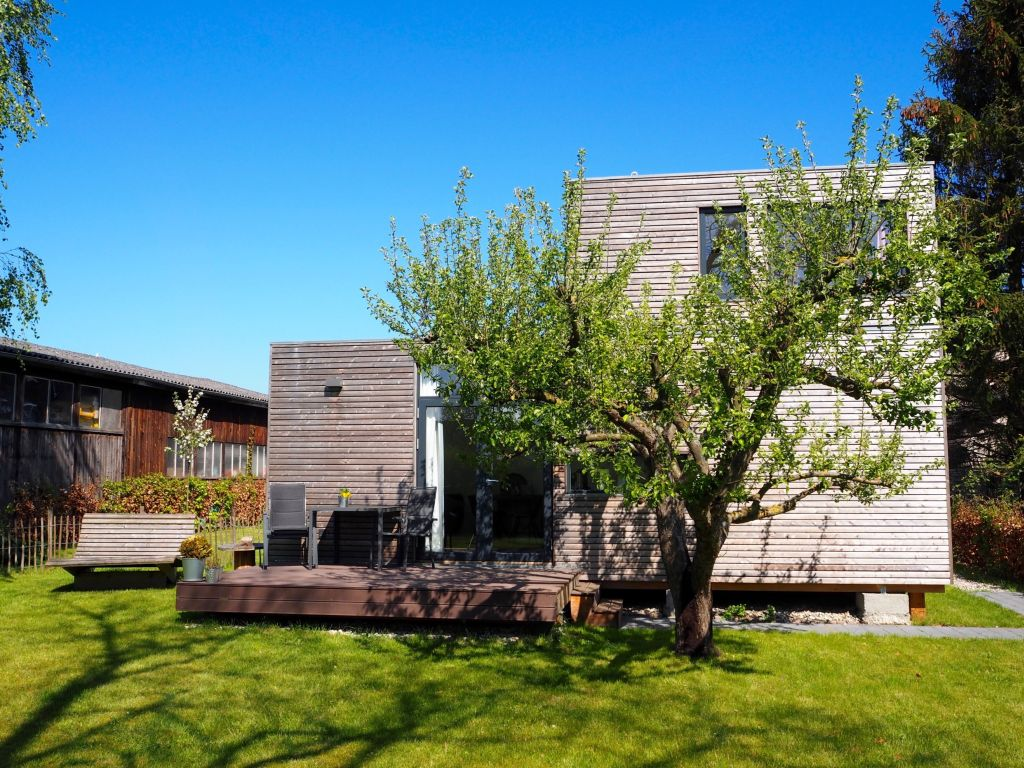 Urlaubsarchitektur Tiny House aus Lärchenholz