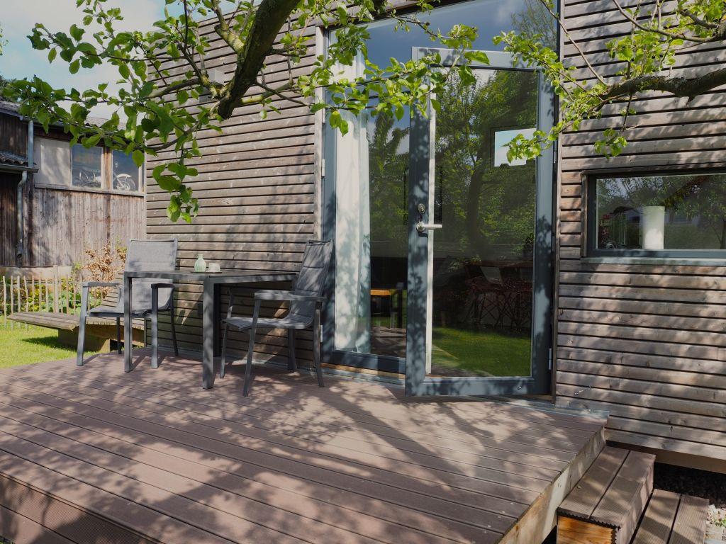 Besondere Urlaubsarchitektur Die Terrasse des Tiny House