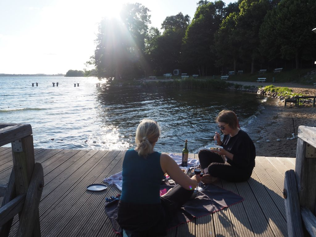 Picknick in der Abendsonne