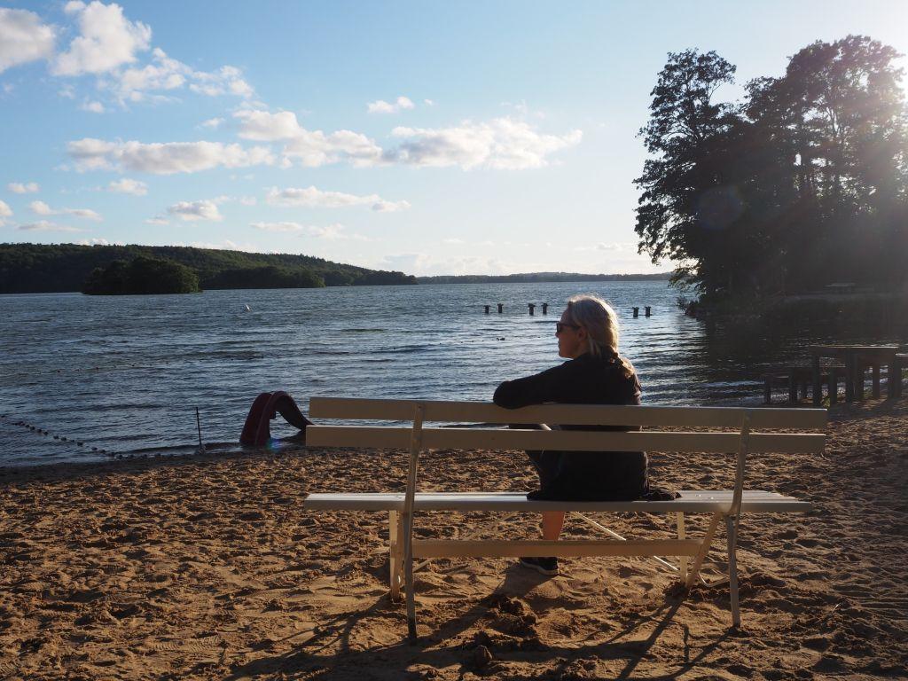 Das ganze Strandbad für uns alleine