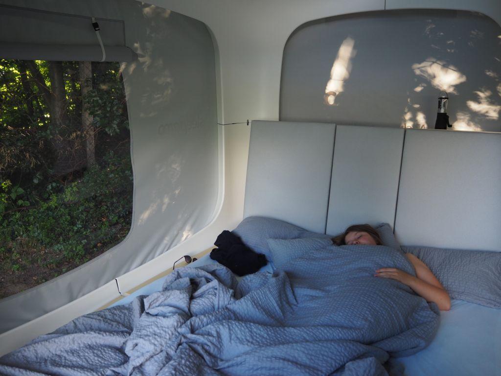 Im Sleeperoo-Cube schläft man fast wie Zuhause