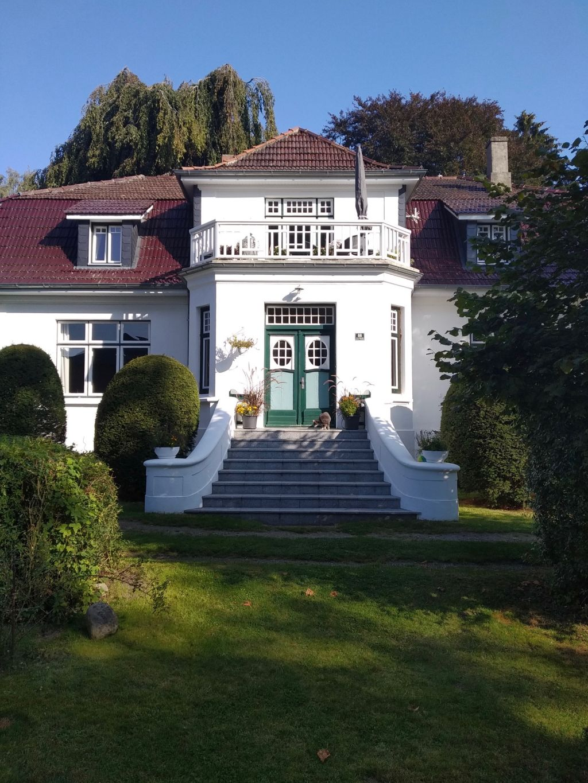 Treppenaufgang des Herrenhauses von Gut Rachut