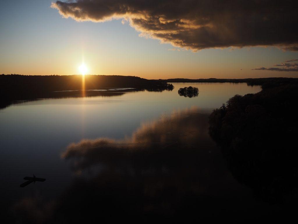 Sonnenuntergang überm Dieksee