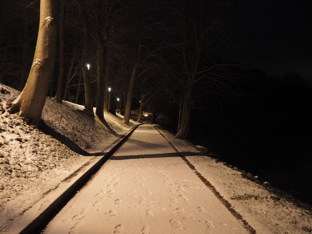 Winternacht auf der Diekseepromenade