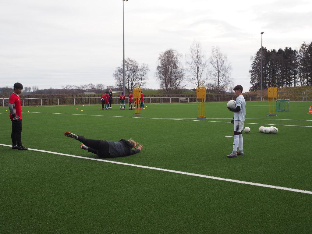 Torwarttraining in der Fußballschule