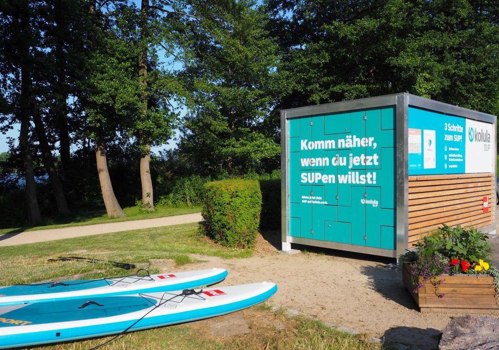 SUP-Box am Kellersee - Boards und Zubehör einfach online mieten