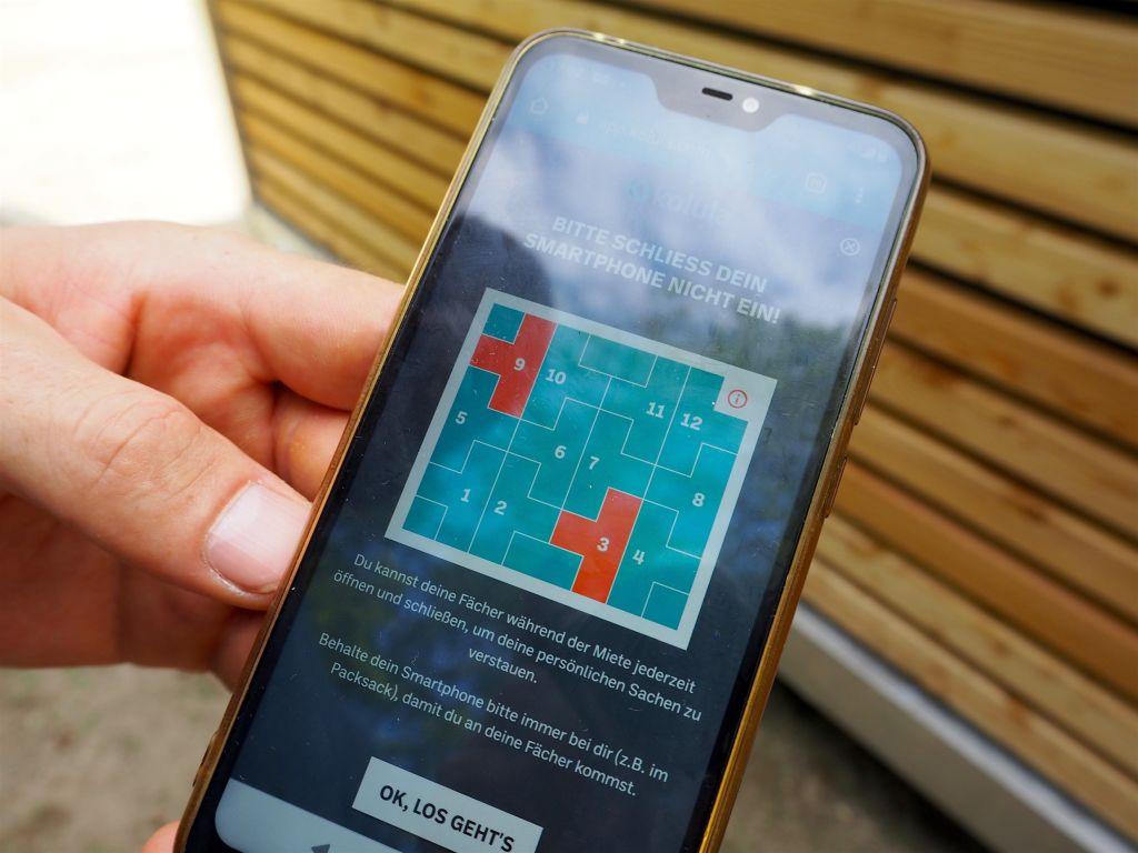 Zum Mieten der Boards braucht ihr ein Smartphone