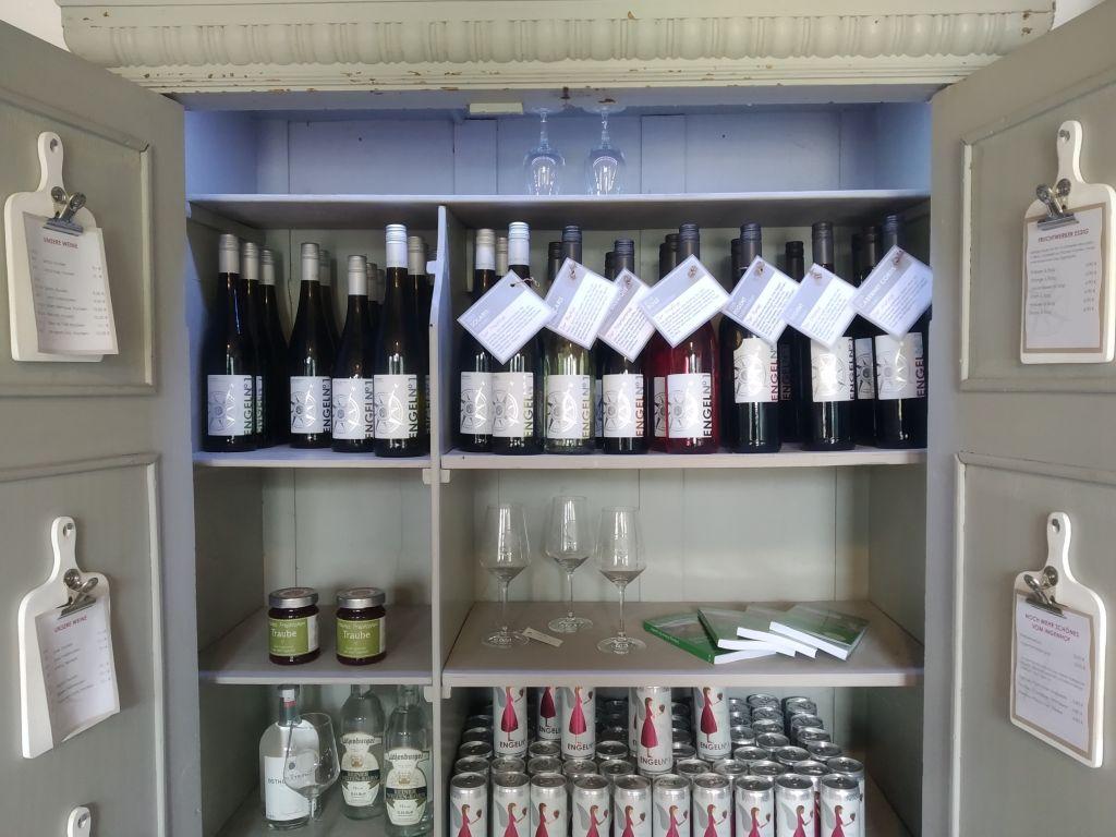 Die Weinremise ist der Hofladen auf dem Weingut Ingenhof