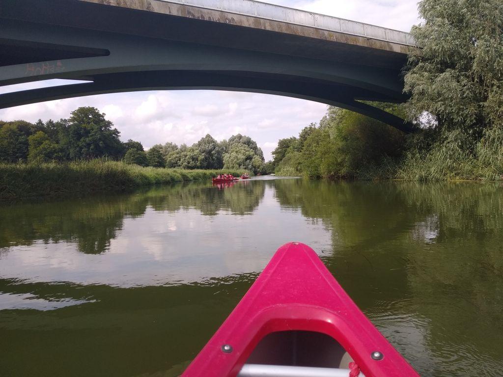 Die Brücke ist Wendepunkt unserer Tour rund um Preetz